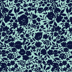 Tonal Floral in Cool Breeze