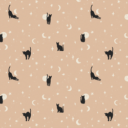 Moonstruck Cats in Blush Pink