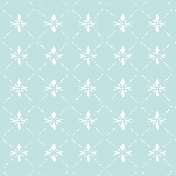 Quilted Snowflake in Candied Aqua