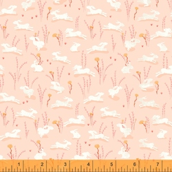 Hares in Peach