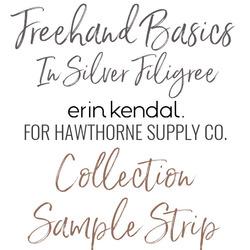 Freehand Basics Low Volume Sample Strip in Silver Filigree