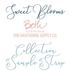 Sweet Blooms Sample Strip