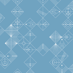 Tiles in Chambray Blue
