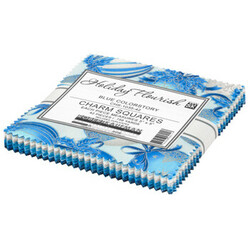 """Holiday Flourish 15 5"""" Square Pack in Blue Colorstory"""