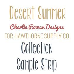 Desert Summer Sample Strip