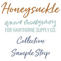 Honeysuckle Sample Strip
