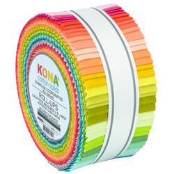 "Kona Solid 2.5"" Strip Roll in Sunroom Coordinates"