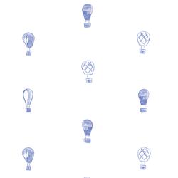 Polka Dot Balloons in Twilight Blue