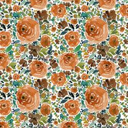 Small Copper Roses in White