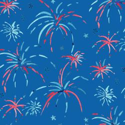 Large Fireworks in True Blue