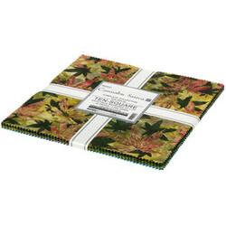 "Cannabis Sativa Artisan Batiks 10"" Square Pack"