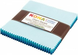 Kona Cotton Solids Charm Squares in Pool Party