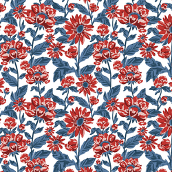 Small Firecracker Floral in Liberty
