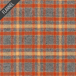 Mammoth Retro Plaid Flannel in Rust