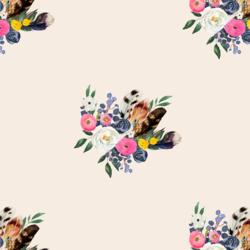 Western Bouquet in Warm Ivory