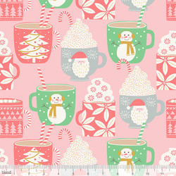 Cups of Cocoa in Pink