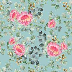 Protea in Pacific Blue