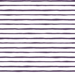 Artisan Stripe in Aubergine on White