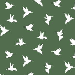 Hummingbird Silhouette in Kale