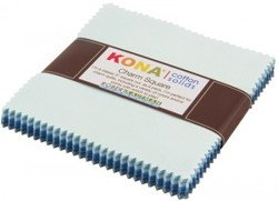 """Kona Solid 5"""" Square Pack in Overcast"""