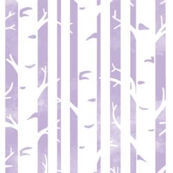 Big Birches in Lilac