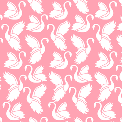 Swan Silhouette in Rose Pink