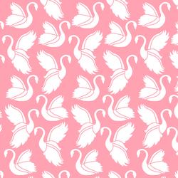 Swan Silhouette in Rose Pink