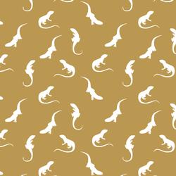 Iguana Silhouette in Marigold