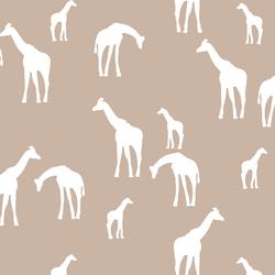 Giraffe Silhouette in Sand