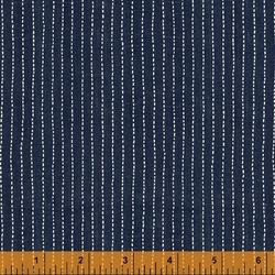 Stitched Stripe in Indigo