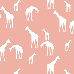 Giraffe Silhouette in Peony
