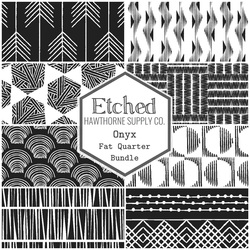 Etched Fat Quarter Bundle in Onyx