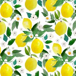 Large Lemons in White