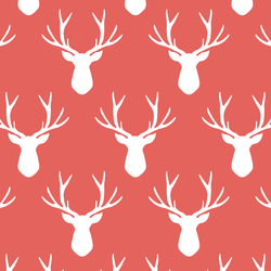 Stag Silhouette in Salmon