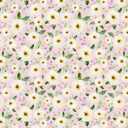 Small Iced Floral in Bubble Gum