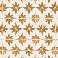 Large Stars in Golden Yellow on Cream
