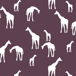 Giraffe Silhouette in Raisin