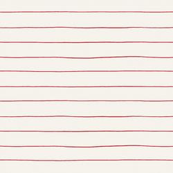 Stripe in Poinsettia on Bone