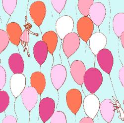 Balloons in Aqua