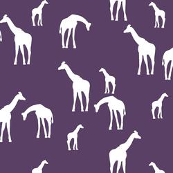 Giraffe Silhouette in Aubergine