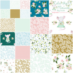 Lila the Mouse Fat Quarter Bundle Big Scale