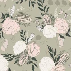 Emley Floral in Soft Lichen