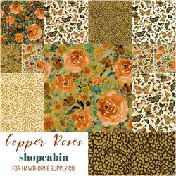 Copper Roses Fat Quarter Bundle