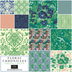Floral Chronicles Fat Quarter Bundle in Fresh Green