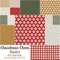 Christmas Cheer Basics Fat Quarter Bundle