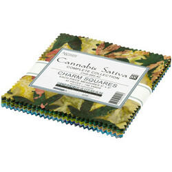"Cannabis Sativa Artisan Batiks 5"" Square Pack"