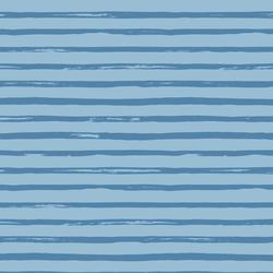 Spring Stripe in Blue Yonder on Serene Blue