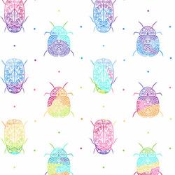 Rainbow Bugs in White