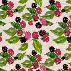 Raspberry Tart in Linen
