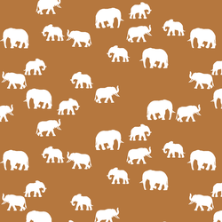 Elephant Silhouette in Ginger